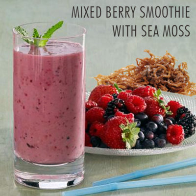 Mixed Berry Smoothie With Sea Moss
