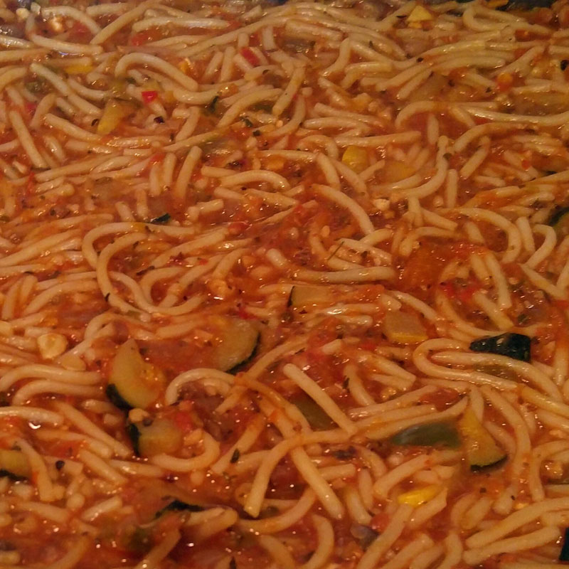 Spaghetti With Walnut Meat